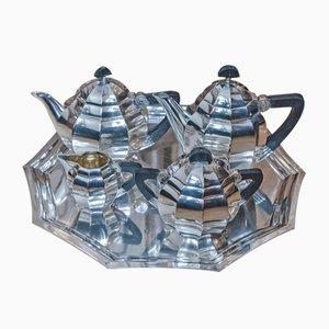 Service à Café Gallia Art Deco en Argent Plaqué de Christofle
