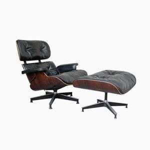 Vintage 670 Sessel und 671 Fußhocker von Charles & Ray Eames für Herman Miller