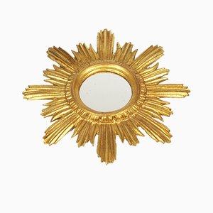 Specchio vintage dorato, anni '50
