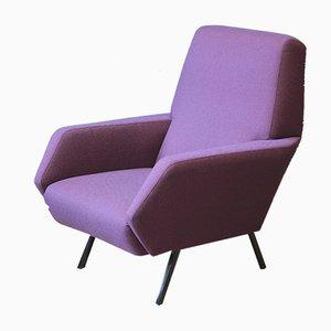 Lilafarbener italienischer Sessel, 1950er