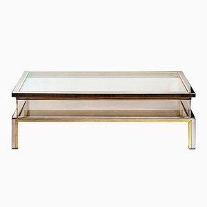 Mid-Century Brass & Glass Coffee Table by Romeo Rega