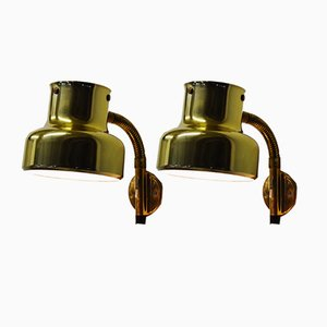 Brass Bumlingen Wall Lights by Anders Pehrsson for Ateljé Lyktan, 1970s, Set of 2
