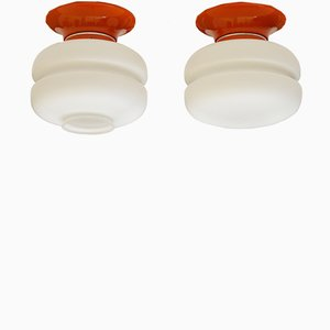 Ceiling or Wall Lamps from Napako, 1960s, Set of 2