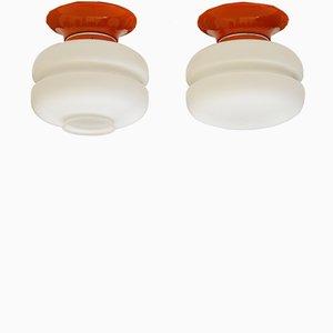 Lámparas de techo o pared de Napako, años 60. Juego de 2