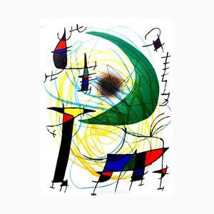 Litografía abstracta de Joan Miro, 1981