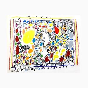 Litografía Toros de Pablo Picasso, 1961