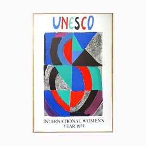Affiche Women's Year 1975 par Sonia Delaunay