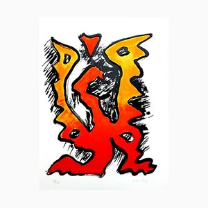 The Flame Lithograph by Man Ray, 1969