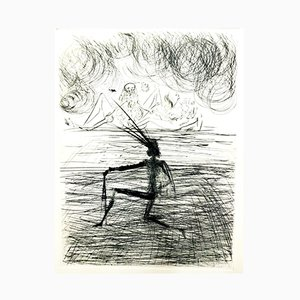 Grabado Kneeling Knight de Salvador Dalí, 1969