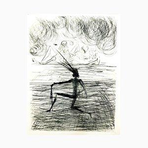 Gravure à l'Eau Forte Kneeling Knight par Salvador Dalí, 1969