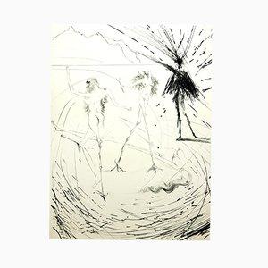 Grabado de mujer de Salvador Dali, 1969