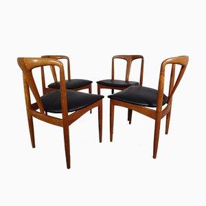 Sedie da pranzo Juliane in teak di Johannes Andersen per Uldum Mobelfabrik, anni '60, set di 4