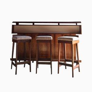 Mueble bar danésde palisandro de Erik Buch para Dyrlund, años 60