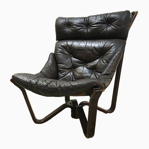 Mid-Century Leather Lounge Chair by Jim Myrstad for Brunstad Møbelfabrik, 1973