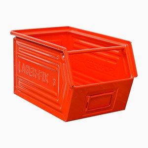 Rote Mid-Century Box von Schafer