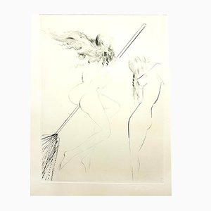 Flying Witch von Faust Radierung von Salvador Dali, 1969