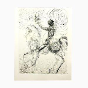 Lithographie Faust Knight & Death par Salvador Dali, 1969