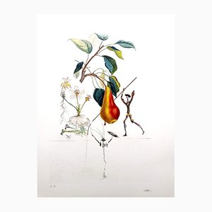 Litografia Don Chisciotte Pera di Salvador Dali, 1969