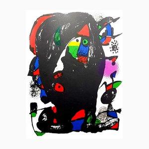 Lithographie Abstraite par Joan Miro, 1981