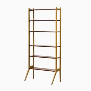 Swedish Teak and Oak Free Standing Shelves, 1950s