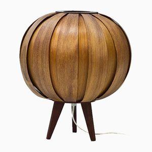Lámpara de mesa sueca de chapa de pino, años 60