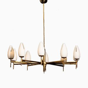 Italian Two-Tone Chandelier from Stilnovo, 1960s
