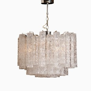 Lámpara de araña Tronchi de cristal de Murano de Toni Zuccheri, años 60