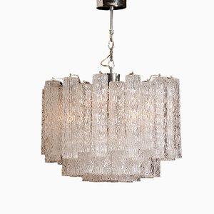 Tronchi Kristallkronleuchter aus Muranoglas von Toni Zuccheri, 1960er