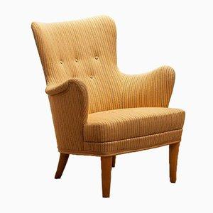 Gävle Lounge Chair by Carl Malmsten for OH Sjögren, 1950s
