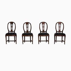 Louis XVI Stühle, 1790er, 4er Set