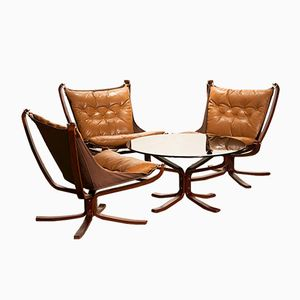 Vintage Falcon Lounge Set by Sigurd Ressell