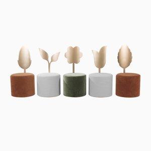 Pufs Giardino Botanico de Artefatto Design Studio para SECOLO. Juego de 5