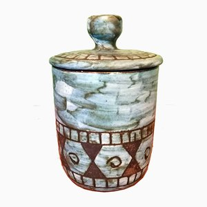 Vintage Ceramic Jar from Maunier Vallauris