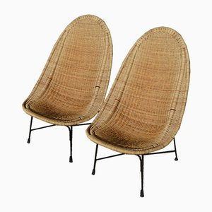 Swedish Stora Kraal Easy Chairs by Kerstin Hörlin-Holmquist for Nordiska Kompaniet, 1952, Set of 2