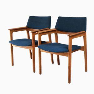 Dänische Beistellstühle von Bjerringbro Kontormøbler, 1960er, 2er Set