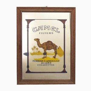 Specchio con pubblicità della Camel, anni '70