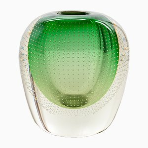 Art Deco Dutch Glass Vase by A.D. Copier for Glasfabriek Leerdam