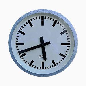Horloge de Bureau ou d'Usine Industrielle Allemagne de l'Est de RFT, 1968