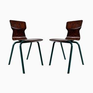 Braune Kinderstühle aus Sperrholz von Galvanitas, 2er Set