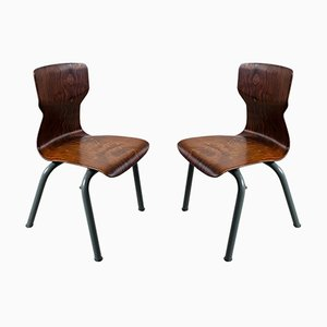Brown Plywood Children's Chairs from Galvanitas, 1960s, Set of 2