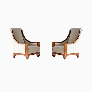 French Armchairs by André Sornay, 1920s, Set of 2