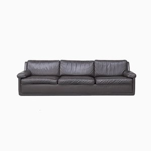 Dark Brown Leather Sofa, 1982