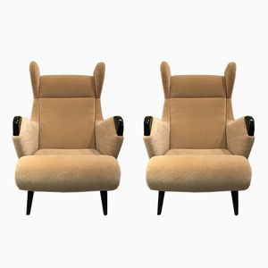 Model Cadillac Lounge Chairs by Henri Caillon for Erton, 1950s, Set of 2
