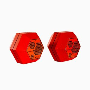 Hexagon Loudspeakers by Terje Ekstrøm for Tandberg Fasett, 1970s, Set of 2