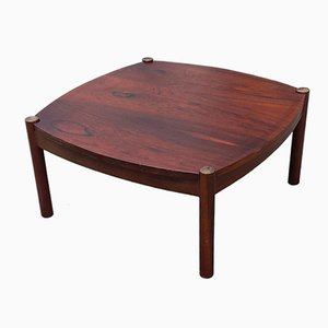 Mid-Century Rosewood Coffee Table with Reversible Top, 1970s