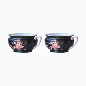 Pots de Chambre Art Deco en Porcelaine de Myott Son & Co, Set de 2