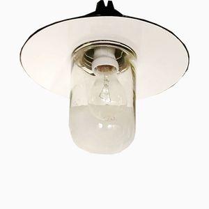 Industrielle Fabrik Deckenlampe aus Emaille von Emo Celje, 1950er