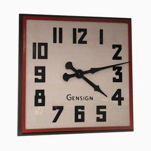 Große britische Ladenfront Uhr von Gensign, 1950er