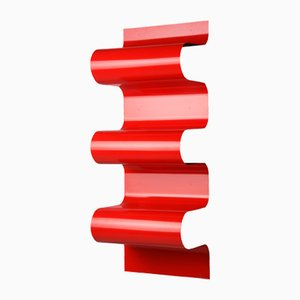 Red Wave Bookshelf by Julien Vidame