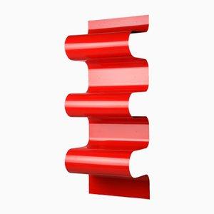 Red Wave Bookshelf by Julien Vidame